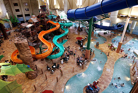 great wolf lodge - tracking trip